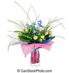 iris, fleur, tulipes, bouquet, flowers., autre