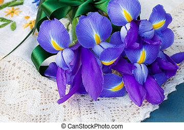 iris, fleurs