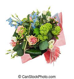 iris, multi, fleur, coloré, bouquet, flowers., autre, roses