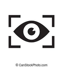 Iris scan for biometric identification. Vector Illustration...