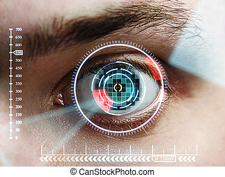 iris scan - scan man's eye for identification