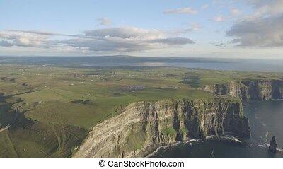 irisch, klippen, tourist, berühmt, natur, moher, westen,...