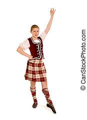 irisch, tänzer