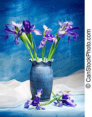 Irises. Still life.