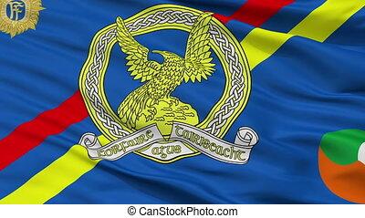 Irish Air Corps Flag Closeup Seamless Loop - Irish Air Corps...