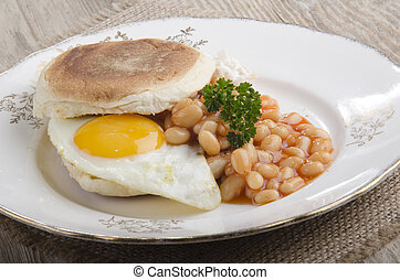irish breakfast muffin on a plate
