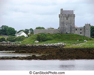 Irish Castle - Castle on Ireland Western Coast.