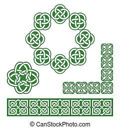 Irish Celtic green design - pattern