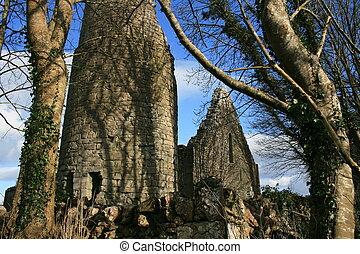 Irish church ruins
