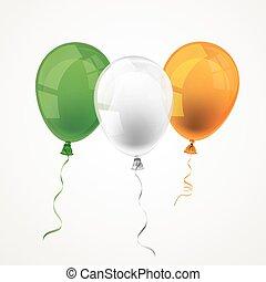 Irish Flag 3 Balloons