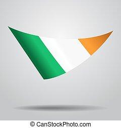 Irish flag background. Vector illustration. - Irish flag...