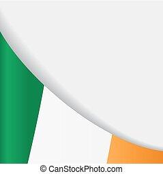 Irish flag background. Vector illustration.