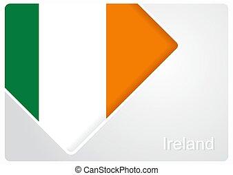 Irish flag design background. Vector illustration. - Irish...