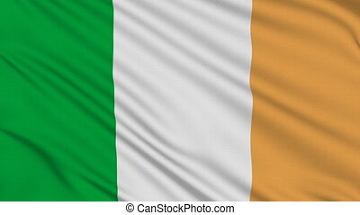 Irish flag, with real structure of a fabric