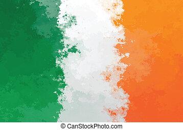Irish flag - grunge design pattern