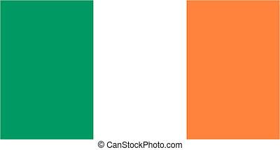 Irish flag icon - isolated vector illustration