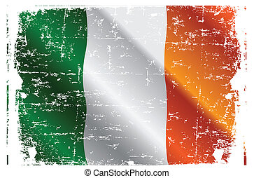 Irish flag - Design of Irish Flag Flying in the Wind
