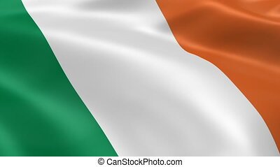 Irish flag in the wind. Part of a series.