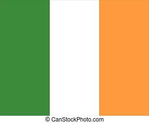 Irish flag - Ireland flag. Vector isolated illustration of...