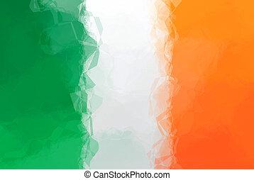 Irish flag - triangular polygonal pattern