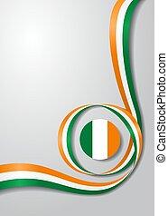 Irish flag wavy background. Vector illustration. - Irish...