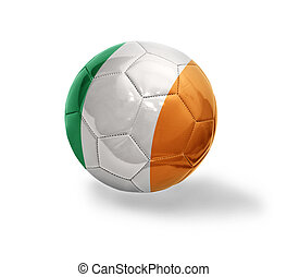 Irish Football - Football ball with the national flag of...