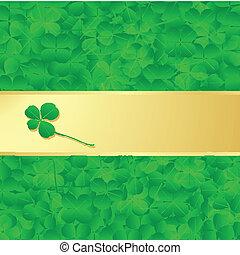 Irish four leaf lucky clovers happy St. Patrick's day...