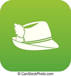 Irish hat icon digital green