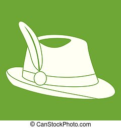 Irish hat icon green