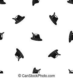 Irish hat pattern seamless black