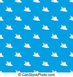 Irish hat pattern seamless blue