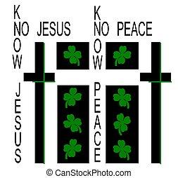 irish jesus - st patrick's day greeting - of a different ...