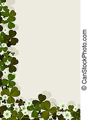Irish luck card - Editable text card with clover leaves and...