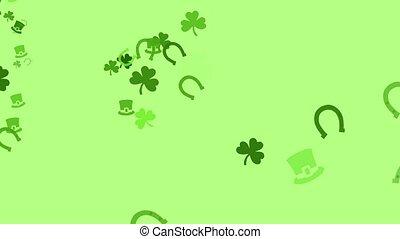 Irish Mix - A bunch of clovers, Irish hats, and horseshoes...