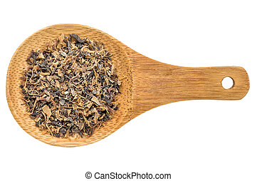 Irish moss seaweed - isolated spoon - Irish moss seaweed -...