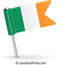 Irish pin icon flag. Vector illustration Eps 8.