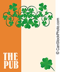 Irish Pub Menu Cover Design