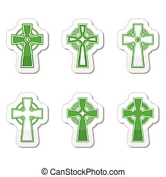 Irish, Scottish celtic cross vector - Celtic crosses black...