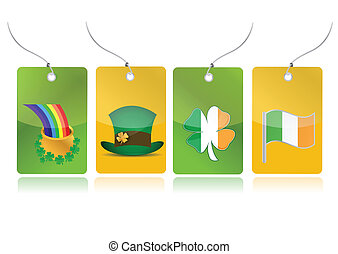 irish set of tags illustration