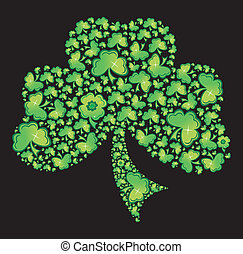 Irish Shamrock Clover Celtic Vector