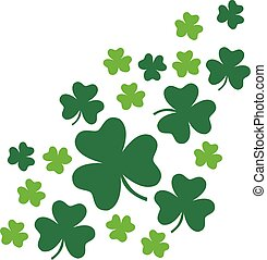 Irish shamrock leaves for St. Patrick's Day background