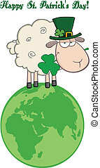 Irish Sheep On A Globe