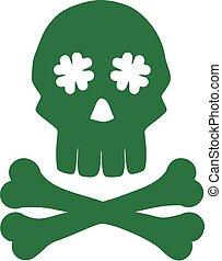 Irish skull with bones