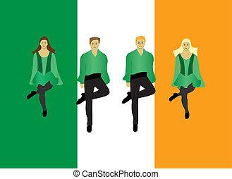 Irish step dance on the Irish flag