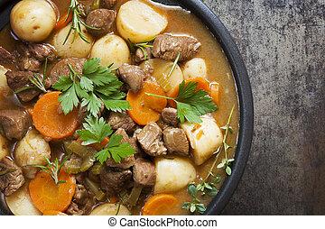 Irish Stew - Irish stew, made with lamb, stout, potatoes, ...