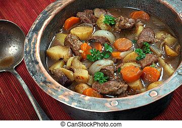 Irish stew - Photo of of Irish Stew or Guinness Stew made in...