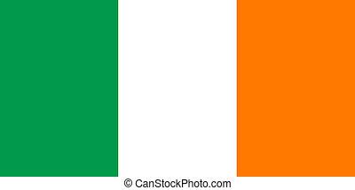 Irish Tricolor flag - Officall flag of the Irish Tricolor,...