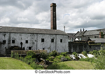 Irish Whiskey Distillery - A view of a whiskey distillery...