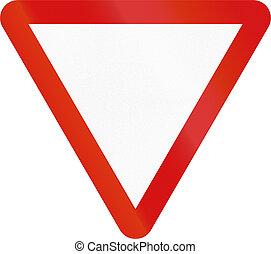Irish Yield Sign - Blank Version