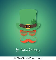 Irishman with ginger mustache wearing hat and glasses.